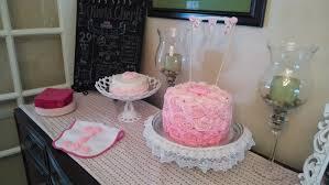 shabby chic pink rosette cake la hoot bakery