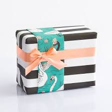 turquoise wrapping paper black white stripe wrapping paper paper source