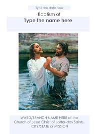 mormon s lds baptism program template