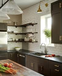 Espresso Kitchen Cabinets by Espresso Kitchen Cabinets With Gold Pulls Transitional Kitchen
