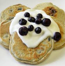 mini blueberry pancakes topped with yogurt super healthy kids