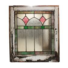 Vintage Windows For Sale by Fabulous Antique American Stained Glass Window With Diamonds