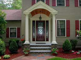 Colonial Kitchen Designs Front Door Porches Designs Colonial 2017 Including Porch And