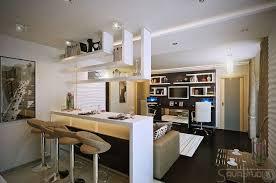cuisine avec bar am駻icain le petit appartement design de luxe par savastudio cuisine avec