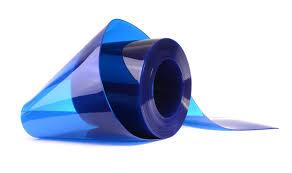 Strip Curtain Roll Transparent Blue Pvc Strip Rolls Rayflex Group