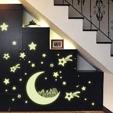 free shipping vinyl moon house and star diy home decor mural decal