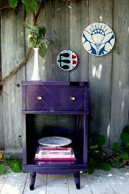 nine red iris the purple u0026 black side table