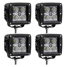 led security light bar led light bar ledkingdomus 4pcs 20w 4inch flood cube led work light