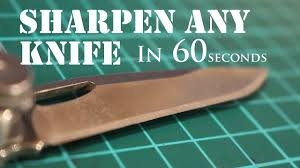 the laziest way to sharpen any knife to razor sharp 2 youtube