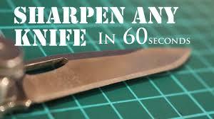 Razor Sharp Kitchen Knives The Laziest Way To Sharpen Any Knife To Razor Sharp 2 Youtube
