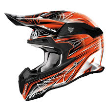 carbon fiber motocross helmets airoh terminator 2 1 fit motocross helmet black matt orange