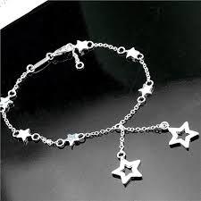 silver star charm bracelet images 20cm women 39 s fashion jewelry silver star bracelet beautiful charms jpg