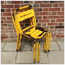 Yellow Bistro Chairs Tolix Style Yellow Bistro Chairs Mayfly Vintagemayfly Vintage