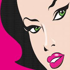 pop art woman wall stickers totally movable pop art pop art girl pink wall sticker jpg