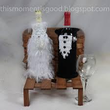 loom knit wine bottle cover pattern groom 2 patterns