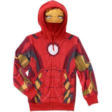 halloween iron man costume marvel iron man boys costume hoodie walmart com