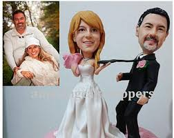 custom wedding cake toppers and groom sculpted wedding cake topper figurine personalized wedding