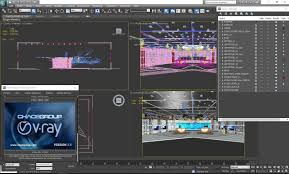 News Studio Desk by 3d Virtual Tv Studio News Set 3 Cgtrader