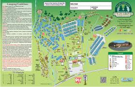 Pennsylvania Attractions Map by Rv Resort Layout Twin Grove Resort U0026 Cottages Pa