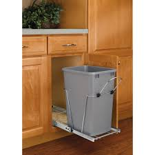 Kitchen Cabinet Trash Pull Out Trash Cans Kitchen Cabinet Organizers The Home Depot
