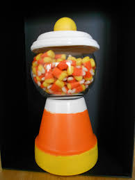 candy corn clay pot candy dish 12 00 via etsy fall