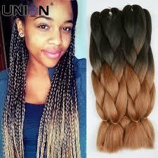 twisted sombre hair 24inch 100gram black grey ombre kanekalon braiding hair jumbo