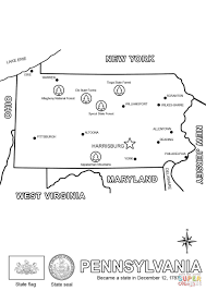 map of pennsylvania coloring page free printable coloring pages