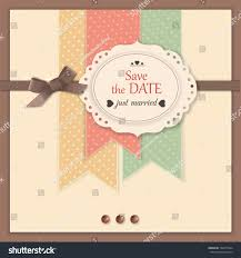 save date background scrapbook elements modern stock vector