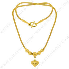 yellow jewelry necklace images Baht sparkling diamond cut hollow heart necklace in 23k yellow gold jpg