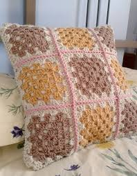Knit Cushion Cover Pattern Hoppingstill Crochet Cushion Cover Backed With Fabric A Mini