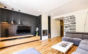 steinwand wohnzimmer montage fernseher an wand montieren die eleganteste variante