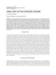 paper on six stroke engine internal combustion engine diesel