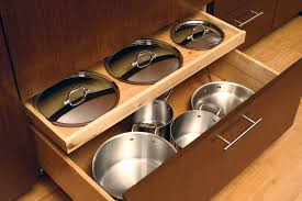 kitchen drawer storage ideas pots pans storage cookware cabinets dura supreme cabinetry