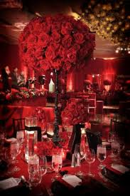 Red Roses Centerpieces Romantic California Wedding With Deep Red Details Inside Weddings