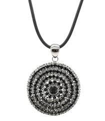 swarovski crystal black necklace images Large oversized hematite black swarovski crystals circle necklace jpg