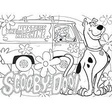 scooby doo printable colouring sheets free coloring pages for kids