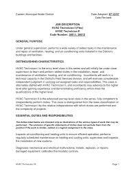 job resume sles for network technician stirring hvac resume entry level chemical engineerve