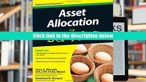 pdf asset allocation for dummies dorianne perrucci pre order