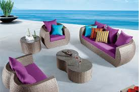 purple and gray patio furniture home outdoor decoration