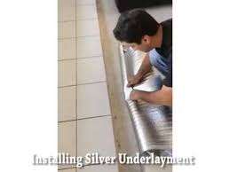 how to install silver laminate flooring underlayment