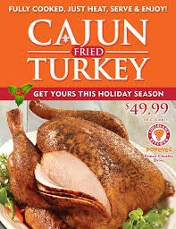try popeyes new cajun fried turkey for a real thanksgiving meal