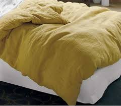 100 Linen Duvet Cover High Low Gray And Saffron Bed Linens Linen Duvet Duvet And