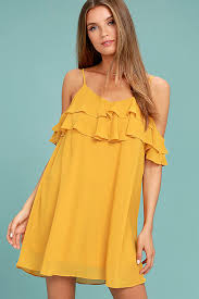 yellow dress yellow dress the shoulder dress shift dress 46 00