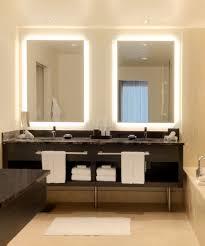 silhouette rectangular lighted mirror bathroom mirrors lights