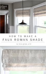 how to make a faux roman shade shades stencils and roman