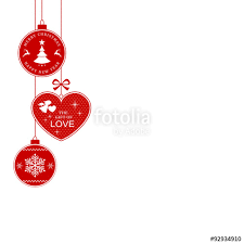 border with hanging ornaments stock image and