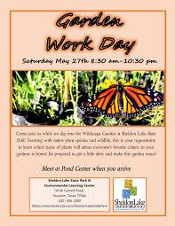 houston native plants garden work day sheldon lake state park and environmental