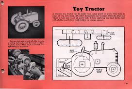 Wooden Toy Plans Free Downloads by Things Your Grandmother Knew Vintage Wooden Toy Tractor Pattern