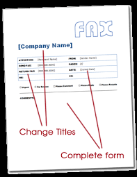 free fax cover letter templates