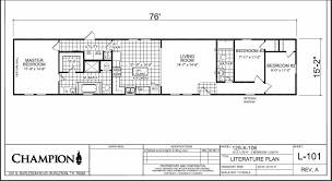 Mobile Home Floor Plans by Champion Homes Single Wide Floor Plans